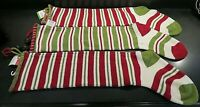 """Christmas Stockings - Set of Three (3) 30"""" Long - Red and Green - New with Tags"""
