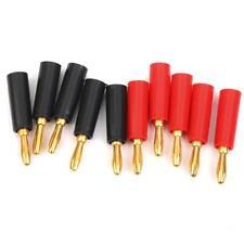 10pz Banana Plug Rosso E Nero Placcato In Oro Connettori Adattatori Speaker