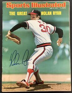 Nolan Ryan Signed Sports Illustrated Magazine Baseball HOF Autograph 6/16/75 PSA