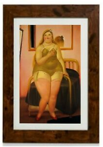 La Cama II Framed Print by Fernando Botero