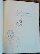 CHARLES ADDAMS FAMILY AUTOGRAPHED BOOK DRAWING SKETCH GOMEZ,1958