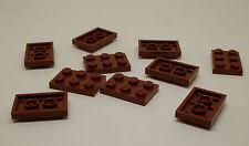 Lego 10 Teile 2 x 3 - braun - 2,4 cm - flach - Steine 3er Zubehör Platte Neu