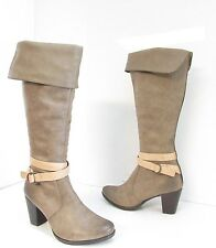 Women's C. Label Sandra 12 A Faux Leather Knee High Boots Dark Taupe Size 10 M