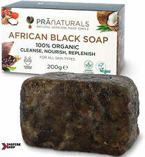 Savon Noir Africain Organique 100% Naturel Cosmetique Peau Visage Corps Bain