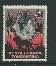 KENYA, UGANDA & TANGANYIKA SG150 1938 £1 BLACK & RED MTD MINT