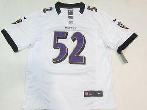 Ray Lewis #52 Baltimore Ravens Men's Game onfield Jersey Away White
