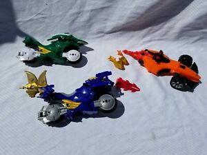 Toys Lot of 2 Power Rangers Action Figure Motorcycles Vehicle and Parts