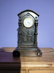 Millennium Brass Quartz Mantle Clock