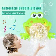 Bath Toy Bubble Machine Big Frogs Music Automatic Bubble Maker Blower Baby Kids