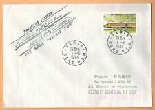 "1984-Enveloppe""1°Liaison Paris/Lyon-Rame Postale-TGV-/Rail-Ob.Paris.-Yt.2334"