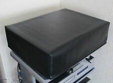 Quality Black Soft Vinyl Dust Cover for Larger Turntables CD Players Amps UK Mfr