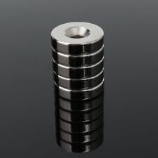 BH_ BU_ FA- 5Pcs 20x5mm N50 Strong Disc Hole Block Rare-Earth Neodymium Fridge M