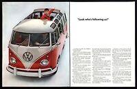 "1961 VW Volkswagen ""23 Window"" Station Wagon photo 2-page vintage print ad"