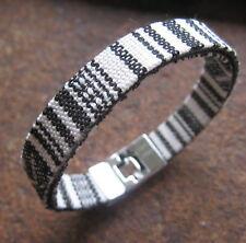 Ethno Armband schwarz weiß Surfer Herren Damen Unisex Bracelet  Pulsera Mexiko