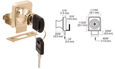"Gold Plated Lock for 3/8"" Glass Door"