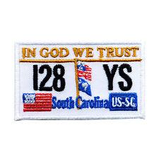 South Carolina Autokennzeichen USA Bundesstaaten Patch Aufnäher Aufbügler 0618