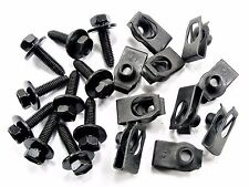 Volkswagen Body Bolts & U-Nuts- M6-1.0mm x 25mm Long- 10mm Hex- Qty.10 ea.- #142