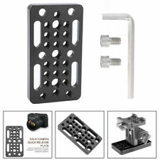 "DIY Camera Easy Plate 1/4"" 3/8"" Thread Holes for Rail Block Dovetail Short Rod L"