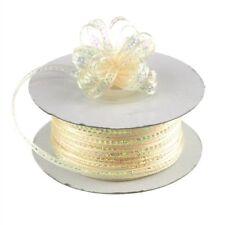 3mm 1/8 Organza Pull bow ribbon Ivory iridescent 50 yd