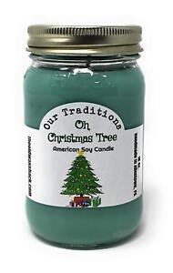 Oh Christmas Tree - Pure Soy Candle - Hand Poured In Mason Jar - SHIPS FREE