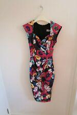 Diva Catwalk Vivien floral cap sleeve fitted dress S size (8-10)