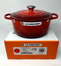 NIB Le Creuset Cast Iron 5 1/2-Qt Round French (Dutch) Oven, Cherry Red