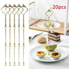 20pcs 2/3 Tier Cake Stand Centre Rod Handle Fittings Cupcake Muffin Plate Stand
