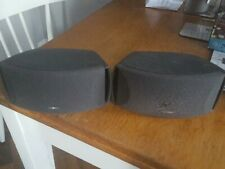 Bose 321 Series I, II or III Speakers x 2 in black, surround sound.