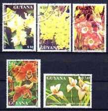 Flore - Orchidées Guyane (36) série complète de 5 timbres oblitérés