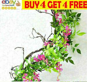 2M Artificial Wisteria Vine Garland Plant Foliage Trailing Flowers Home Decorli