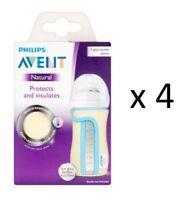 Philips Avent Glass Sleeve 8 oz SCF676/01 (4 Pack)