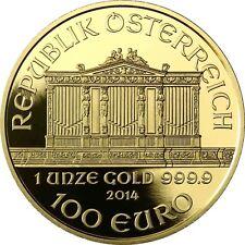 Österreich 100 Euro 2014 Gold 25 Jahre Wiener Philharmoniker Polierte Platte