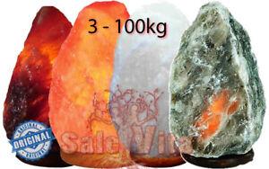 Lampada di sale dell' Himalaya | Scegli il colore e kg - 100% Sale forma Grezza