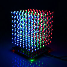 SainSmart 3D LightSquared DIY Kit 8x8x8 5mm White LED Cube Red Green Blue Square