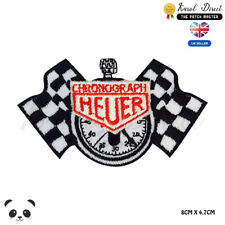 Heuer Chrono Clock Embroidered Iron On Sew On Patch Badge For Jacket Clothes