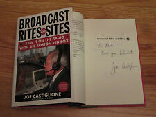 RED SOX HOFer JOE CASTIGLIONE signed BROADCAST RITES & SITES Hard Cover Book DON