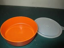 tupperware bowl-orange color little wonders bowl and clear seal