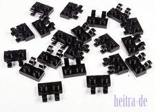 LEGO - 20 x Platte 1x2 mit 2 x O - Clip senkrecht schwarz / 60470b NEUWARE (e13)