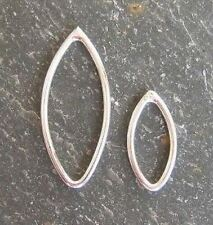 ARGENTO Sterling 12mm x 6mm Marquis JUMP Anello Connettore