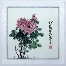 "Chinese painting chrysanthemum 16x16"" birds flowers original traditional ink art"