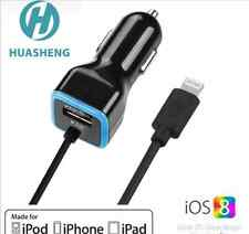 Apple MFI Certified iPad Air iPhone 5 5s 6 6s 7 Plus Car Charger USB Port