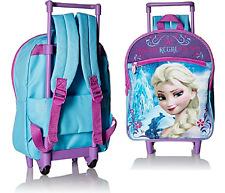 Kids Travel Bag FROZEN DISNEY Pink Rolling School Backpack ELSA Book Notebook