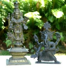 Two Indian Bronze Deity Figures, 19th/20th Century