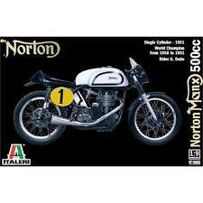 Italeri 1951 Norton Manx 500cc Motorcycle 1:9 Scale Plastic Model Kit