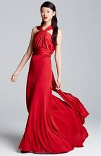 Vera Wang Charmeuse & Jersey Gown (Size 6)