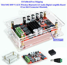 TDA7492 50W*2 AUX Wireless Bluetooth 4.0 Audio Digital Amplifie Board+Case Kit
