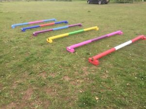horse show jumps showjump Ends. 4 Pairs raised trotting polepods Cavaletti Ends