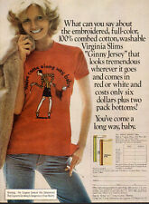 1975 Tobacco AD VIRGINIA SLIMS Cigarettes Lovely model in cool tee shirt 041516