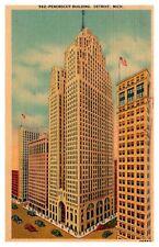 Penobscot Bldg. Detroit Michigan Linen Postcard