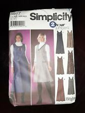 SIMPLICITY 5917 MISSES' SZ XXS-S PULLOVER JUMPER IN 2 LENGTHS SEWING PATTERN OOP